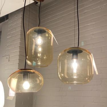Deltalight hanglamp Mello glas Amber ø250 M-SHOWROOMMODEL