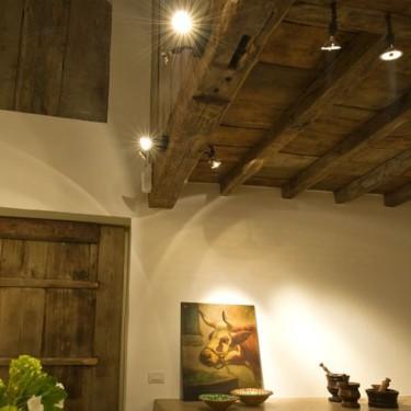 Nosta Charlie plafond opbouw spot donker brons - SHOWROOMMODEL