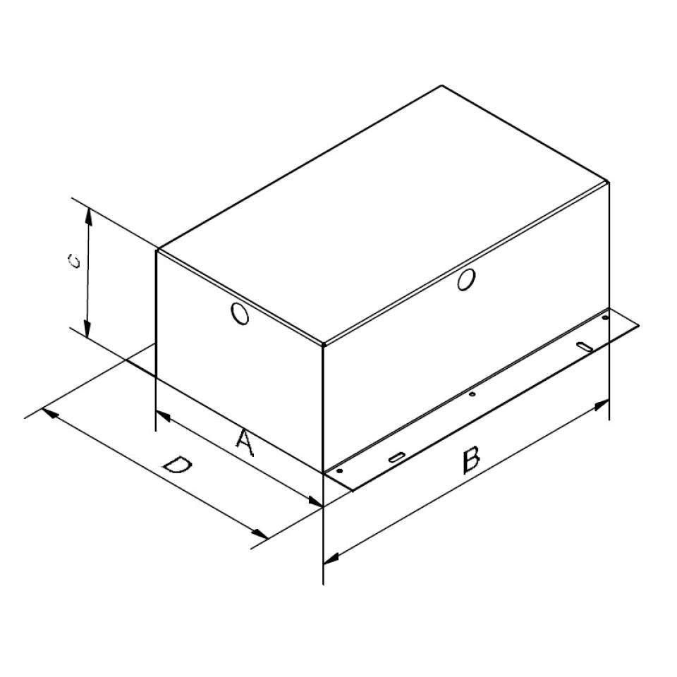 Mini Multiple randloze tweevoudige inbouwspot conbox