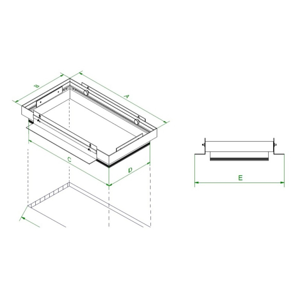 Mini Multiple randloze drievoudige inbouwspot plasterkit
