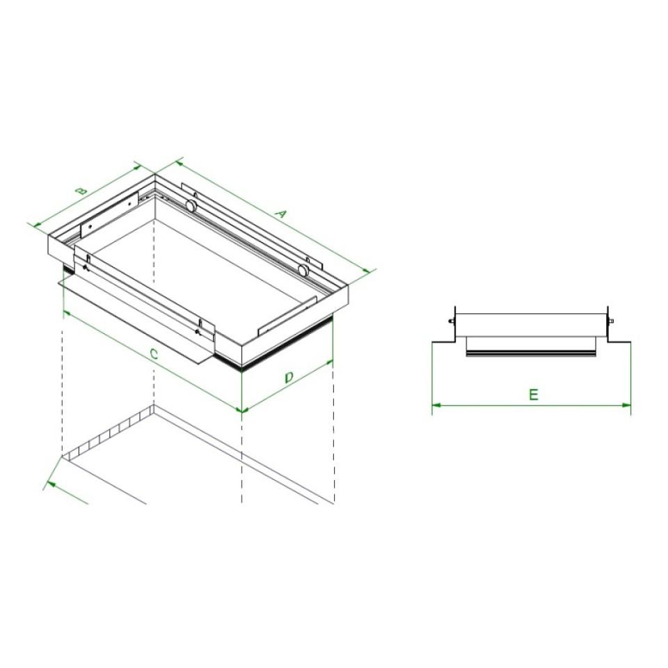 Mini Multiple randloze viervoudige inbouwspot plasterkit