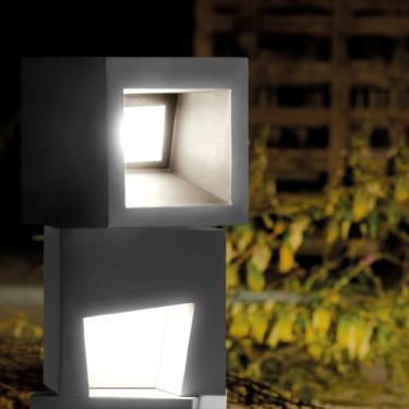 Cemento vloerlamp