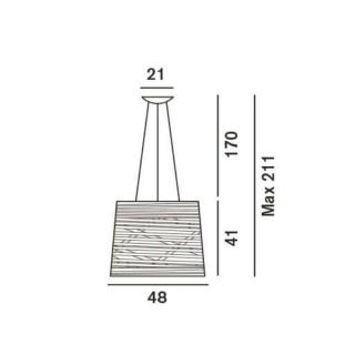 Tress Grande LED hanglamp afmeting