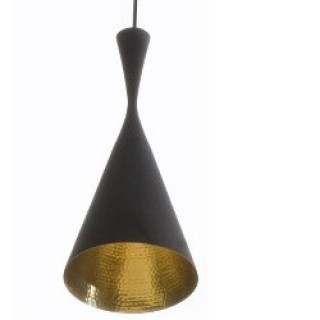 Beat tall black pendant