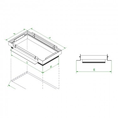 Mini Multiple randloze enkelvoudige inbouwspot plasterkit