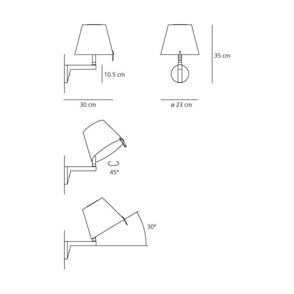 Melampo wandlamp