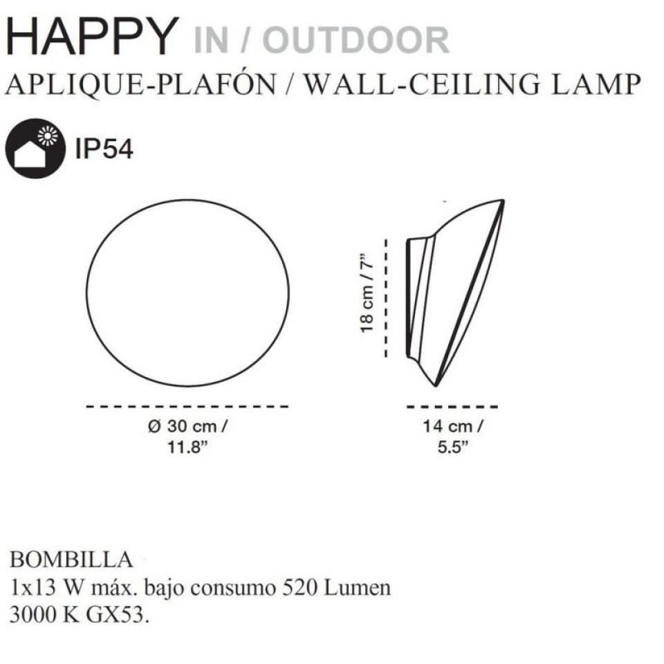 Happy Wandlamp