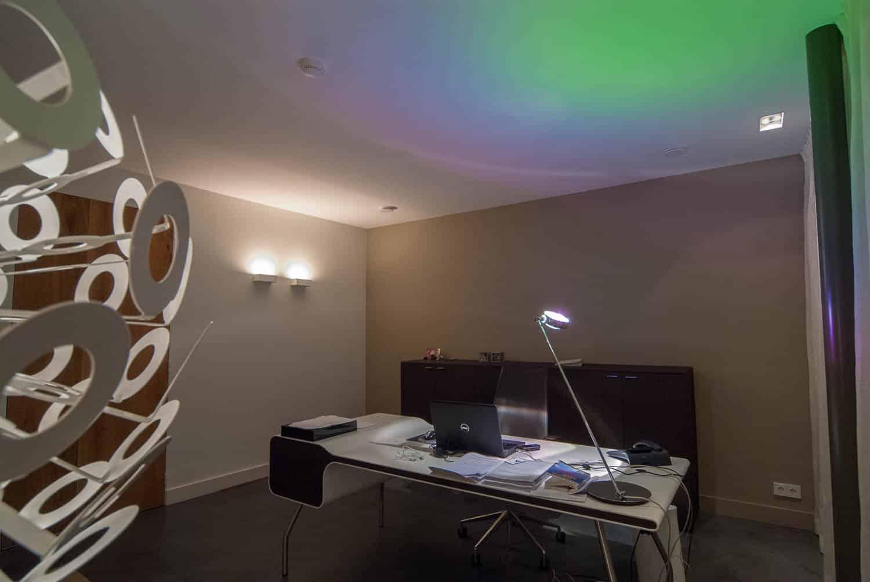 Hoogspoor licht project woonhuis Riel