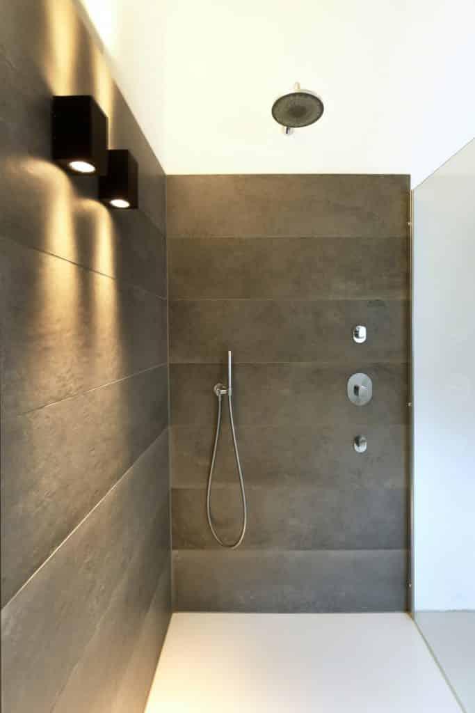 Moderne villa lichtplan douche