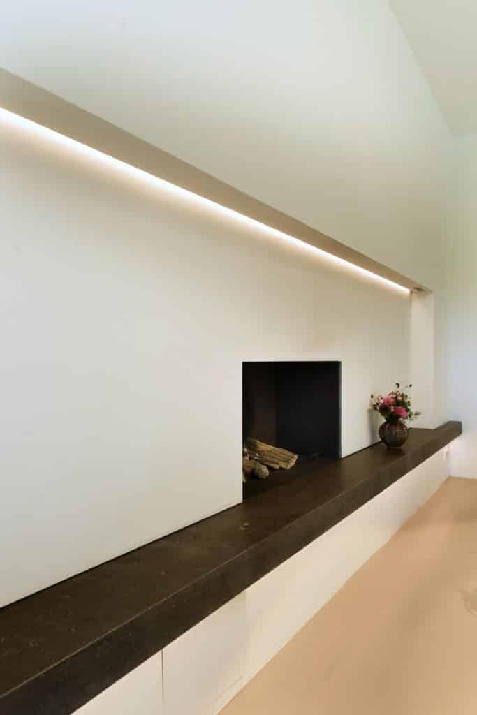 Moderne villa lichtplan haard