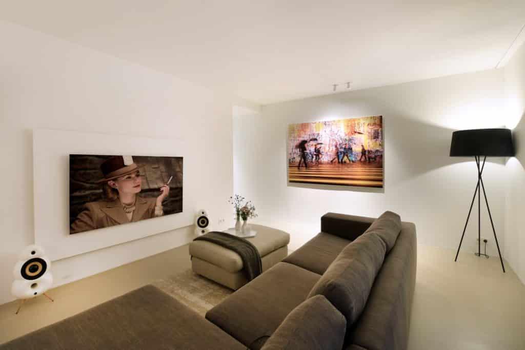 Moderne villa lichtplan huiskamer