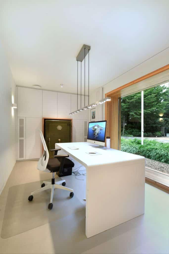 Moderne villa lichtplan kantoor