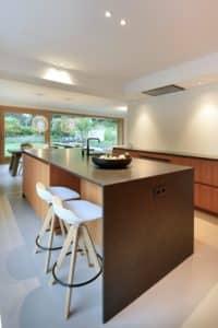 Lichtplan keuken moderne villa Tilburg