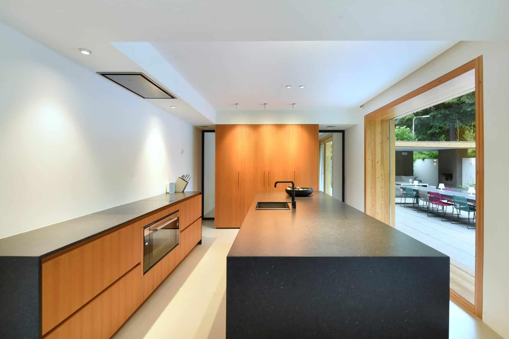 Moderne villa - lichtplan kookeiland