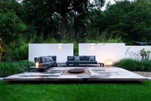 Moderne villa lichtplan lounge