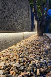 Moderne villa lichtplan omheining