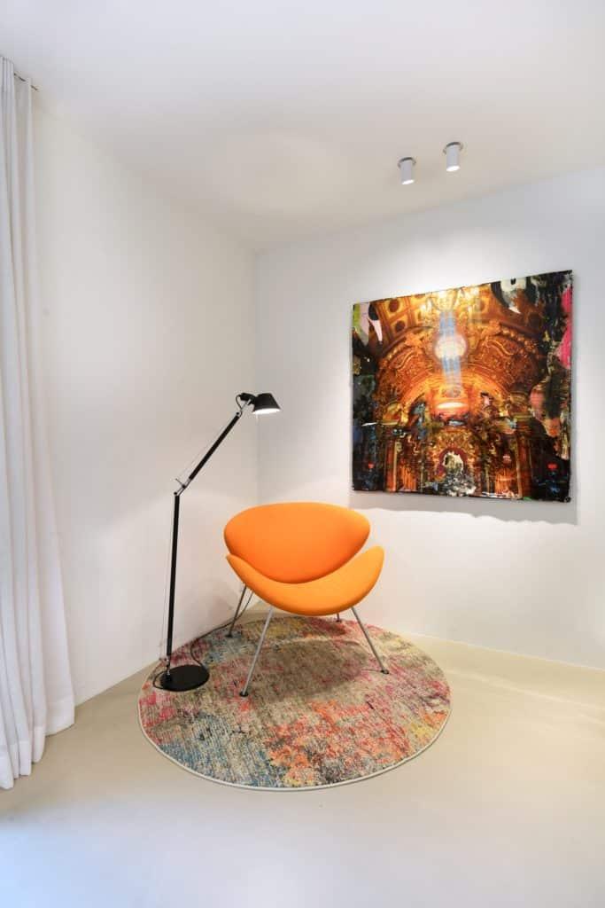 Moderne villa lichtplan zithoek