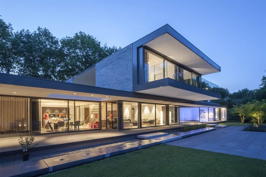 Nieuwbouw villa verlichting